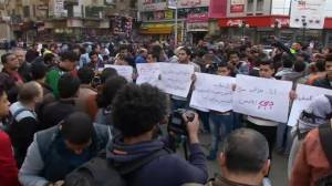 RAW: Egyptians protest ISIS beheadings in Libya