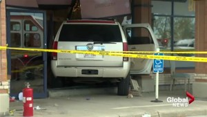 Boy injured after vehicle crashes through Calgary storefront