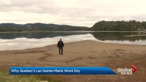 Quebec lake goes dry as other areas face floods