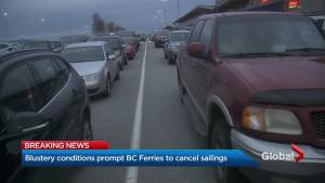 B.C. wind storm cancels ferry sailings on major routes