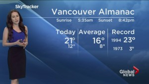 B.C. evening weather forecast: May 11