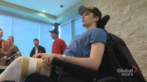 Humboldt Broncos bus crash survivor speaks about road to recovery