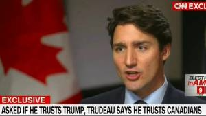 Trudeau goes on CNN to talk Trump, trust, trade