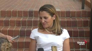 Freeland says she had 'constructive' trade talks with U.S. negotiators
