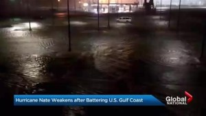 Hurricane Nate swamps U.S. Gulf Coast