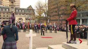 Halifax honours Canadian veterans in Remembrance Day ceremony (02:12)
