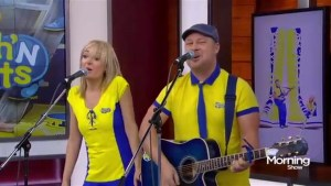 Splash n' Boots perform 'Go With The Flow' on The Morning Show