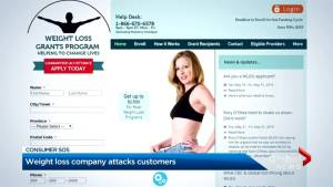 Weight loss program posts client information online