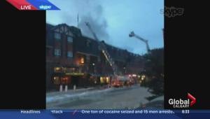 Firefighters continue to battle blaze at Banff's Mount Royal Hotel