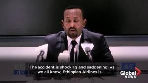 Ethiopian Airlines crash: prime minister offers condolences to victims' families