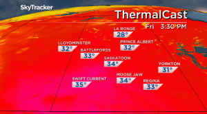 Saskatoon weather outlook: humidex climbs into the 40s on Friday