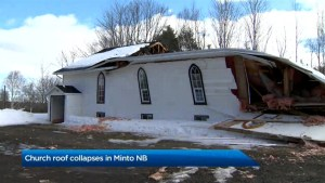 Church in Minto, N.B., getting by with a little help from friends after roof collapse
