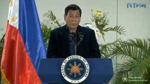 Rodrigo Duterte says he will deal with Trump in 'righteous way' in November meeting