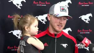 'It was a crazy morning': Stampeders QB Bo Levi Mitchell on free agency (00:38)