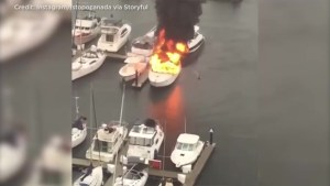 Fire Destroys Boat in Vancouver's Quayside Marina