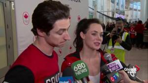Tessa Virtue, Scott Moir talk about Olympic experience and being fans after competition
