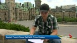 Guelph 17-year-old Noah Irvine gets his meeting with the PM
