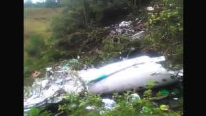 First daylight images of Colombia plane crash site