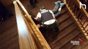 Violent arrest of elderly couple caught on camera