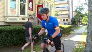 Cyclist kicks off Maritime Tour for Ronald McDonald House