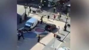 Van drives into crowd in Barcelona terror attack