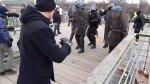 Former pro boxer takes on French riot police during protest