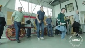 Middle aged hockey fans get fit
