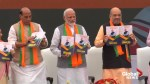 Indian PM Modi releases party's election manifesto