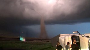 Tornado knocks over semi-trailer in Kansas storms roll across much of U.S.