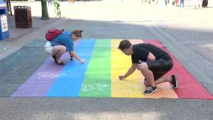 Calgary Pride crosswalk vandalized for 2nd time in 5 days