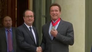Arnold Schwarzenegger receives Legion of Honour for environmental work