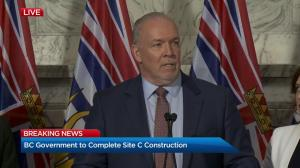 B.C. government announces it will complete Site C dam project