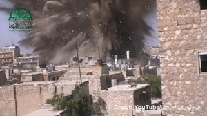 Raw video: Giant tunnel blast in Syria caught on camera