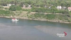 Low water levels measured on South Saskatchewan River