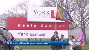 York University striking staff stage Day of Action