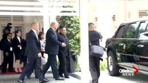 Trump-Kim summit: Trump shows off armoured limo known as 'The Beast'