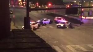 Amateur videos capture chaos during Dallas shooting