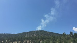 Peachland fire fight
