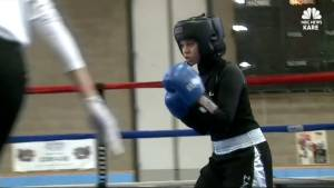 Minnesota teen makes history wearing hijab in boxing competition