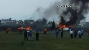 At least 2 dead in plane crash outside Mexico City