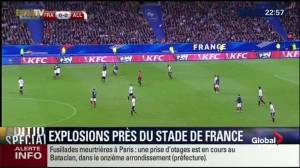 Sound of explosion heard during soccer-friendly in Paris