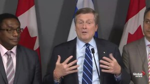 John Tory has 'pages of questions' for Doug Ford on Toronto-area transit plan