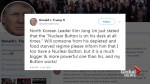 Trump tweets: 'I too have a nuclear button'