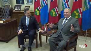 Premier Ford, Kenney make remarks ahead of meeting on carbon tax, Bill C-69