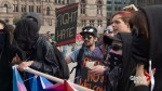 Anti-Trudeau demonstrators, counter-protesters face off in Toronto