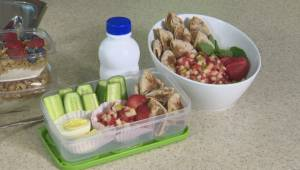 Healthy snack options for school lunches