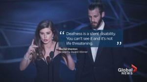 Oscars recognize stars & films using sign language