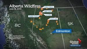 Wildfires force thousands from homes again in northern Alberta