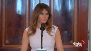 Melania Trump says she's 'heartened' by students protesting after Florida shooting