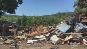 Explosion levels West Kelowna house
